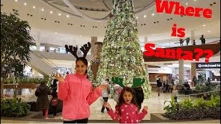 Funny Kids -  Looking For Santa At The Mall Family Vlog - amy Calder