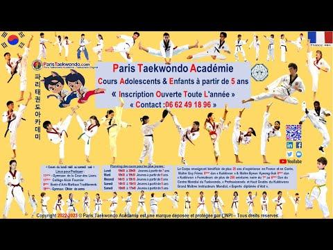 Paris Taekwondo Académie N°1 à Paris Cours 100% Enfants video