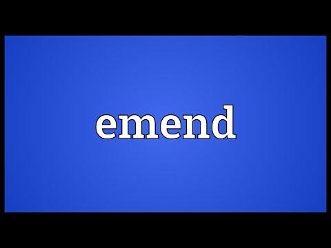 Header of emend