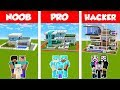 Minecraft NOOB vs PRO vs HACKER: SAFEST FAMILY HOUSE BUILD CHALLENGE in Minecraft / Animation