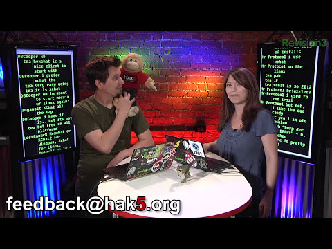 Hak5 1411.2, Turning your IRC client into a chat client, and Google Docs Tricks!