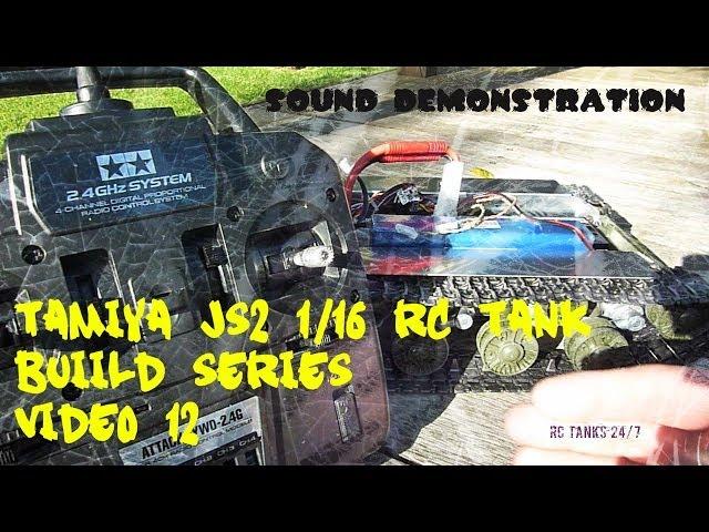 Tamiya JS-2 1/16 RC Tank Build Series Video 12