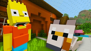 Bart Simpsons New Dog | The Simpsons | Minecraft Xbox [21]