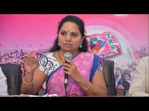 MP Kavitha takes part in Rythu Bandhu Program in Jagtial