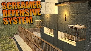 SCREAMER DEFENSIVE SYSTEM   7 Days to Die   Let's Play Gameplay Alpha 16   S16.4E57