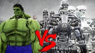 THE INCREDIBLE HULK VS TERMINATOR ARMY - EPIC BATTLE