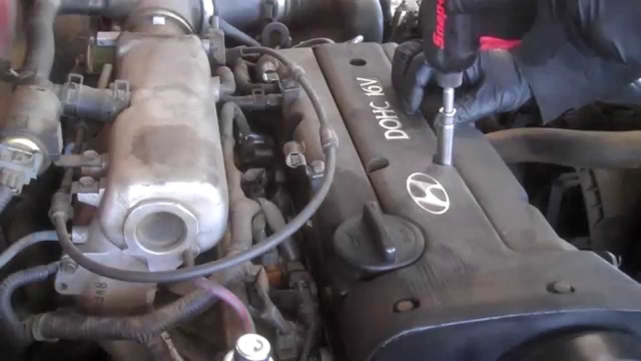 valve cover replacement hyundai elantra 2000 2 0l 4
