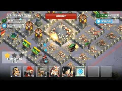Samurai Siege Mission #38b Molten Mongols (reward: 150 Diamonds) video