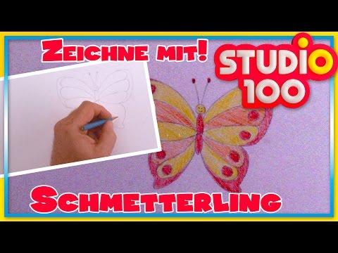 Zeichnen lernen mit Heidi! ✿ Schmetterling ✿ Zeichnen für Kinder