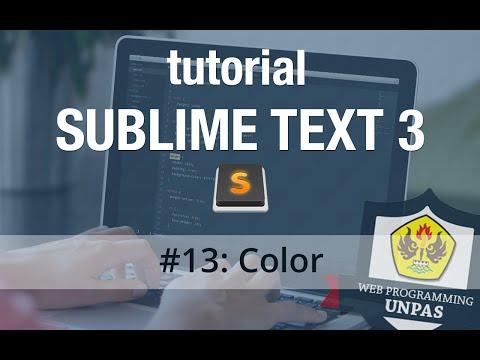 Download  Tutorial Sublime Text 3 - #13 Color Gratis, download lagu terbaru