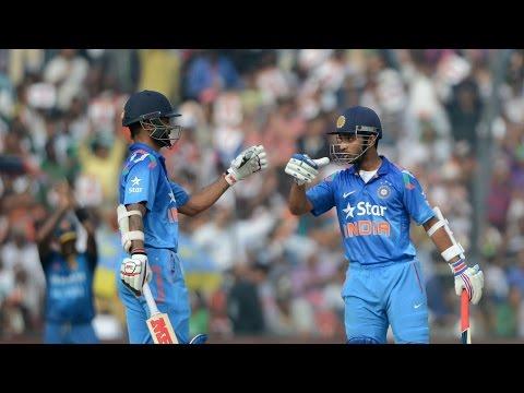 Shikhar, Ajinkya Rahane punish SL bowlers in 1st ODI