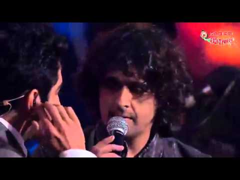Sonu Nigam, Mika and Ayushman performing the Jai Mata Di Medley- Royal Stag Mirchi Music Awards