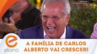 Carlos Alberto descobre que família vai aumentar e tem a melhor reação   Programa Eliana (10/03/19)