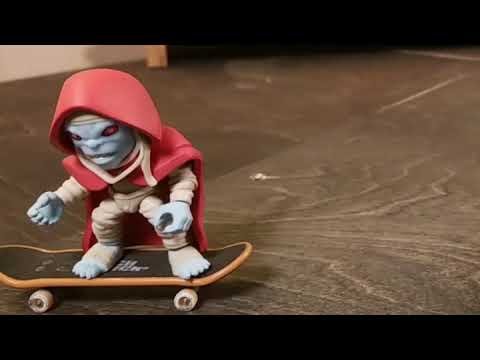 Stop Motion Mumrah the Everliving (Skateboarding Powerslide)