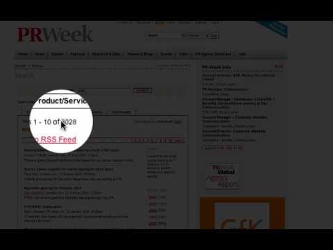 PR Week's Search Box