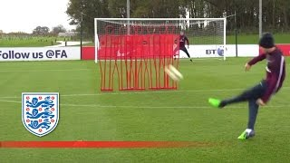 England U21 free kick and finishing skills | Inside Training