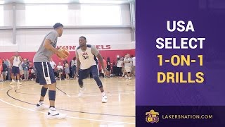 Team USA 1 On 1 Drills: ONLY 2 Dribbles! (Raw Video Footage)