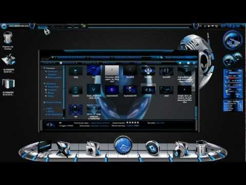 Descarga Tema 3D Alienware Blue Para W7 [SIN PASS] AREA52