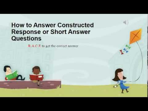 How to Answer Constructed Response or Short Answer - YouTube