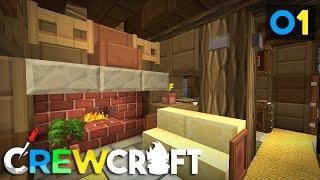 Crewcraft Minecraft Server :: My First House! E1