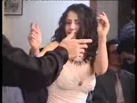 Iranian men and women having a private dance