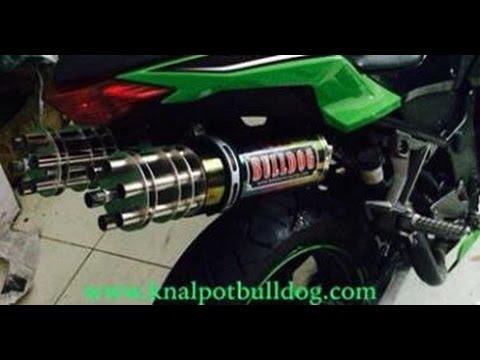 Kawasaki ninja 250 fi suara knalpot bulldog double trouble