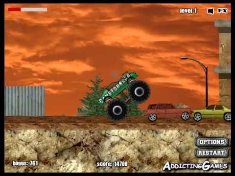 monster truck video game for kids
