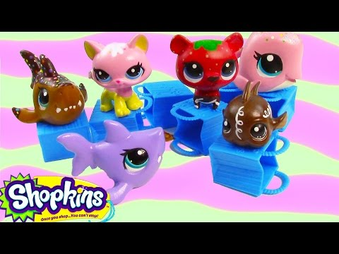 LPS Shopkins 12 Pack Mystery Surprise Blind Bag Custom Painted Littlest Pet Shop Toy Review