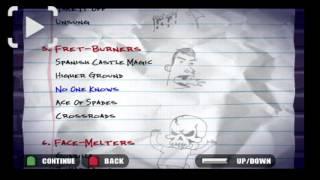 Guitar Hero 1 songlist