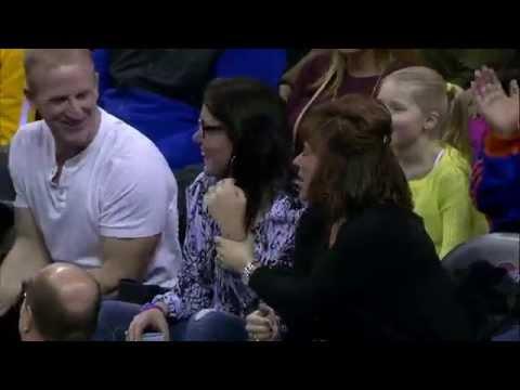 Lebron James Kisses Fans Hand