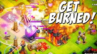 Clash of Clans Troll Base HEATING UP! Inferno Destruction!