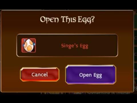 Arcane Legends Opening Singe Egg!!