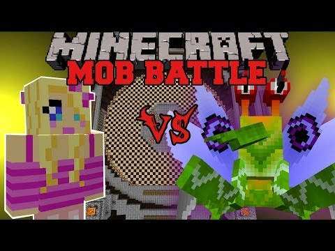 Girlfriend Vs Soldier Bug - Minecraft Mob Battles - Anti Plant Virus And Girlfriend Mods video