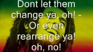 Bob Marley Could you be loved Lyrics flv