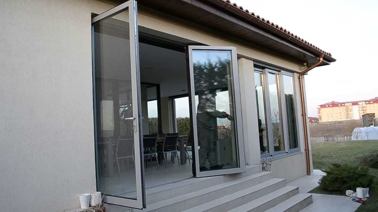 reynaers cf77 aluminium terrassent r faltschiebet r. Black Bedroom Furniture Sets. Home Design Ideas