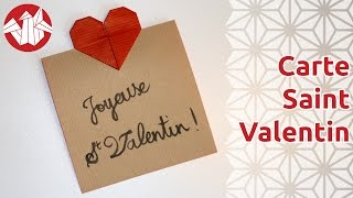 Origami - Carte Pour La Saint Valentin