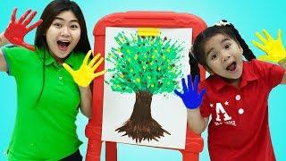 Suri Finger Paints Fun Kids Art with Colored Paint Kids Toys