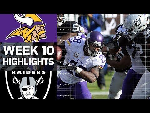 Vikings Vs Raiders Week 10 Highlights Nfl