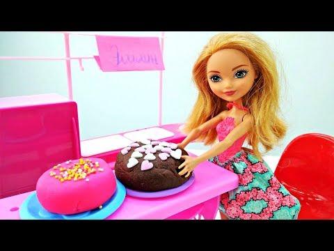 Эшлин Элла открывает кондитерскую! Новые мультики с куклами