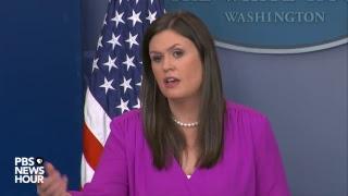 Sarah Sanders, Energy Sec. Rick Perry hold news briefing