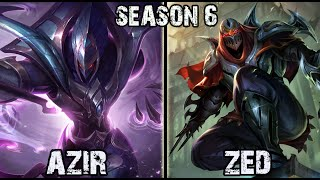 Best Azir Korea vs Zed MID Ranked Challenger
