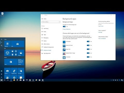 Отключение фоновых программ в Windows 10