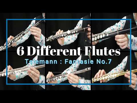 Comparison of flute sounds. Material and shape. Schwedler and conical ring key Boehm
