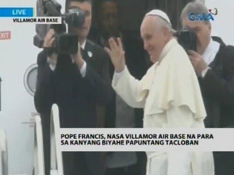 Flash: Pope Francis, nakasakay na sa eroplano papuntang Tacloban