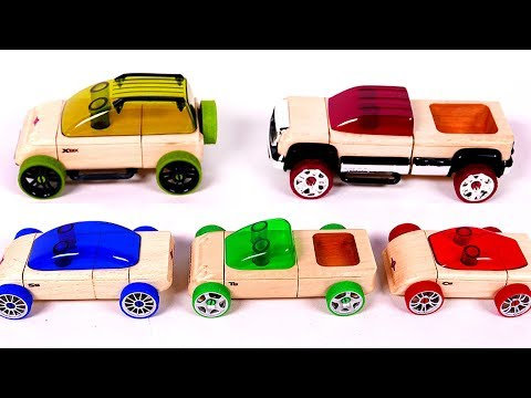 Putting Together Toy Car Vehicles Learn Colors for Children