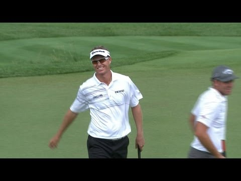 John Senden birdies the final hole of The Greenbrier Classic