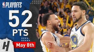 Stephen Curry & Klay Thompson Game 5 Highlights vs Rockets 2019 NBA Playoffs - 52 Pts Combined!