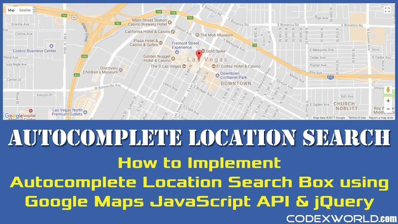 Autocomplete Location Search Using Google Maps Javascript