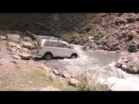 Форсирование реки на Кавказе