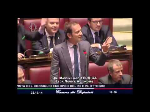 Massimiliano Fedriga - Intervento alla Camera - Duro scontro tra i deputati della Lega e la Boldrini